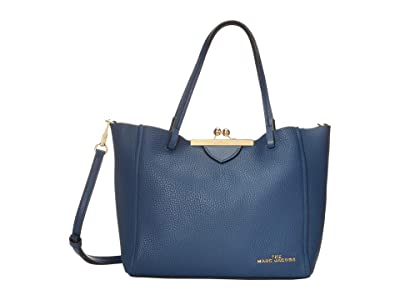 Marc Jacobs The Kisslock Mini Tote (Blue Sea) Handbags