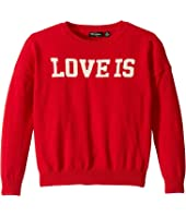 Love Is Knit Pullover (Toddler/Little Kids/Big Kids)