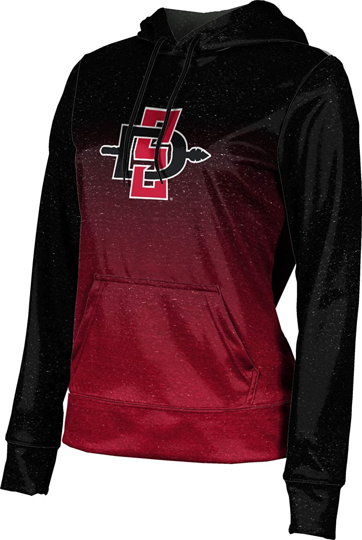 San Diego State University Girls' Pullover Hoodie, School Spirit Sweatshirt (Ombre)