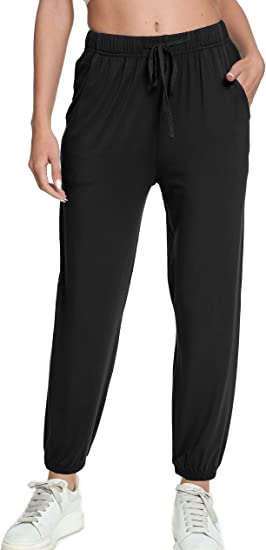 ADANIKI Womens Yoga Pants with Pockets Sweatpants for Women Workout Joggers Comfy Lounge Drawstring Pant