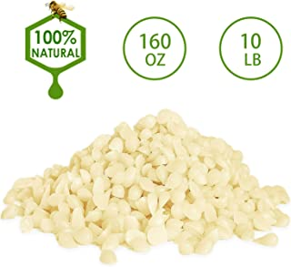 YYCH 10-lb Pure White Beeswax Pellets-100% Pure