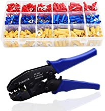 Wire Terminals Crimping Tool, Preciva Insulated Ratcheting Terminals Crimper Kit of AWG22-10 with 700PCS -27 types of Insulated Butt Bullet Spade Fork Ring Crimp Terminals Connectors