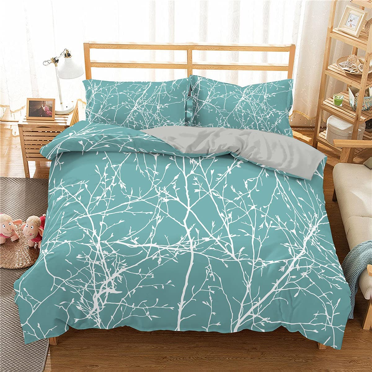 Super special price Plant Bedding Set 3D Branch with Printed Limited price Duvet Pillowcase Cover