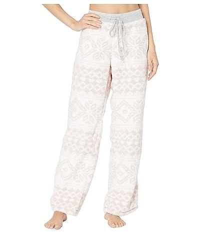 Dylan by True Grit Plush Nordic Pajama Pants (Powder Pink) Women
