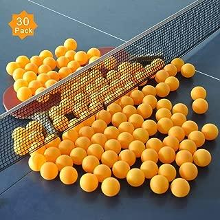 ZHENAN 30-Pack 3-Star 40+ New Material Ping Pong Balls,More Durable,Advanced Training Table Tennis Balls(Practice Ping Pong Ball)