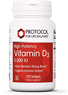 Sponsored Ad - Protocol For Life Balance - Vitamin D3 5000 IU (High Potency) Supports Calcium Absorption, Bone and Dental ...