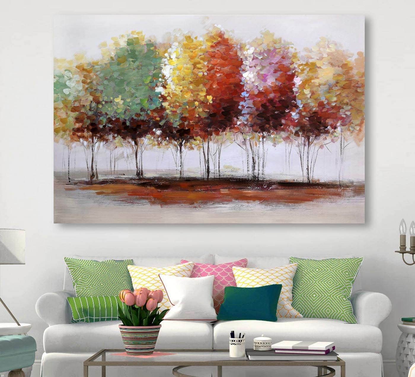 Tree Canvas Prints Popular product Wall Art for Home Colorful Decor Trees Large Same day shipping