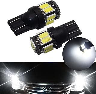 YaaGoo Compact Small Plate Lights Lamp White,T10 168 194 2825 W5W,White,2pcs