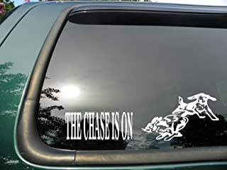Chase Is on Rabbit- Die Cut Vinyl Window Decal/sticker for Car or Truck 3.5