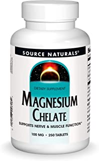 Source Naturals Magnesium Chelate - Supports Nerve & Muscle Function - 250 Tablets