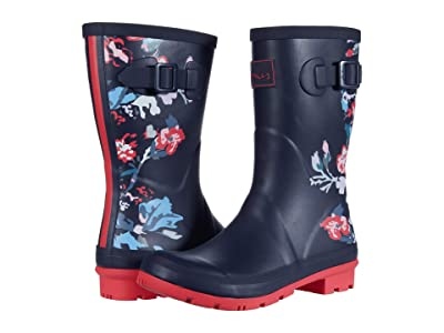 Joules Molly Welly (Navy Birds Floral) Women