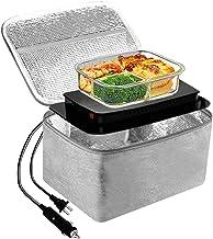Chauffe-plat électrique 2 en 1 pour voiture/camion et bureau 220 V & 12 V 45 W, micro-ondes portable pour homme et femme, ...