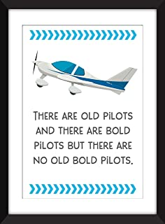 There Are Old Pilots And There Are Bold Pilots But There Are No Old Bold Pilots - Unframed Aviation Print/Sin Marco