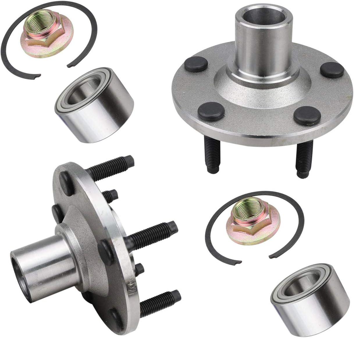 Bodeman - 安全 Pair 2 Front Wheel for 新作からSALEアイテム等お得な商品 満載 2001-201 Repair Bearing Kit Hub