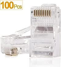 RJ45 Connectors,SHD Cat6 Connector Cat5e Connectors Cat5 Connectors RJ45 Ends Ethernet Cable Crimp Connectors-100Pcs