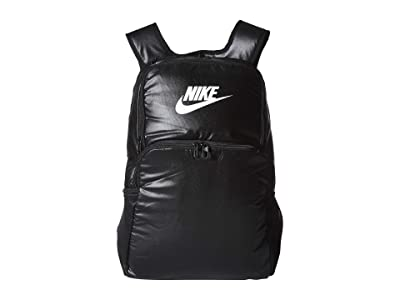 Nike Brasilia MTRL XL Backpack 9.0 (Black/Black/White) Backpack Bags