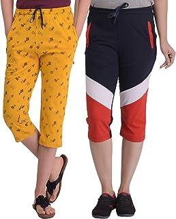 SHAUN Women's Regular Fit Capri (Pack of 2)