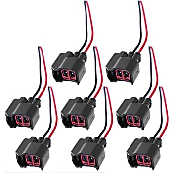Amazon.com: Fuel Injector Pigtail Connector Plug Wire EV6 Replaces For Ford  Mustang F150 F250 Crown Victoria (Pack of 8): AutomotiveAmazon.com