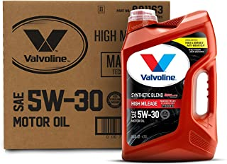 Best Valvoline - 881163 High Mileage with MaxLife Technology SAE 5W-30 Synthetic Blend Motor Oil 5 QT, Case of 3 Review