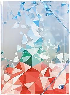 OXFORD Chemise 3 Rabats Graphyk A4 avec Elastique Couverture Polypro Coloris Assortis