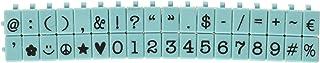 مجموعة طوابع للرموز والأرقام الأمريكية المتوسطة الحجم من 36 قطعة من Contact USA، باللون الأزرق تيفاني