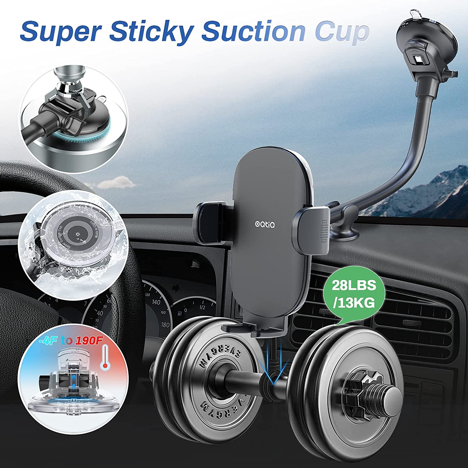 OQTIQ super sticky suction cup for ford Escape