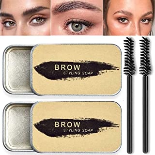 2 Pack Eyebrow Soap Kit, 4D Brows Gel Long Lasting Eyebrow Setting Gel Waterproof Eyebrow Makeup...