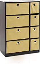 Furinno Econ Organizer Cabinet, Espresso/Light Brown