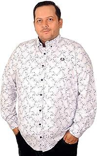 Mode XlBüyük Beden Erkek Gömlek Ukol Çiçekli Baskılı 193