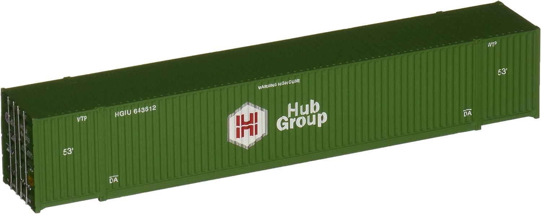 Walthers SceneMaster Singamas Hub Group CorrugatedSide Container 53'