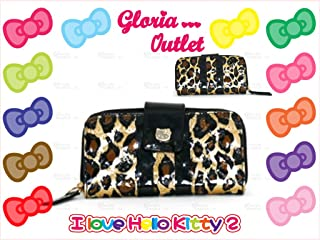 1 pc Loungefly Sanrio Hello Kitty Patent Leopard Animal Print Embossed Vegan Clutch Wallet