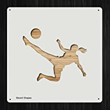 Soccer Player Plastic Mylar Stencil for Painting, Walls and Crafts, Item 1322123
