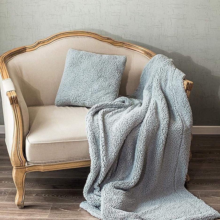 郊外持参計器ノウ建材貿易 枕の枕は枕である枕は折りたたみ式の多機能の空調であるかソファのクッションは家庭で適用可能 (色 : Blue gray)