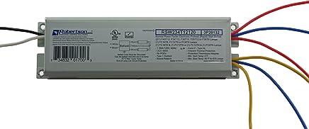 ROBERTSON 3P20132 Fluorescent eBallast for 2 F40T12 Linear Lamps, Preheat- Rapid Start, 120Vac