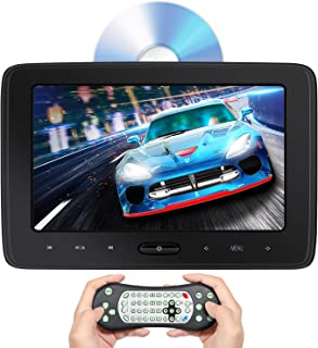 Headrest DVD Player for Car 10.1 inch, Automatic Top Loading, Syn Screens, Play Games, FM/IR, HDMI Input, AV Out/in, USB/SD Card, Car Back Seat TV Monitor with Mount and Remote Control