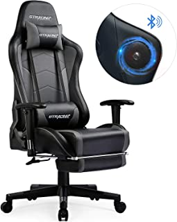 GTRACING Music Gaming Chair with Footrest and Bluetooth Speakers Video Game Chair Heavy..