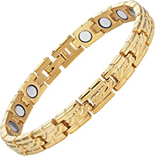 Ladies Titanium Magnetic Therapy Ankle Anklet Bracelet by Willis Judd