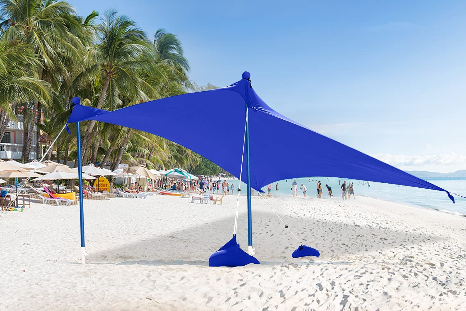 Max Limited Special Price 40% OFF ABCCANOPY Beach Sunshade Tent UPF50+ Shel Protection Portable UV