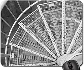 Mouse Pads - Spiral Staircase Stairs Iron Steel Black and White