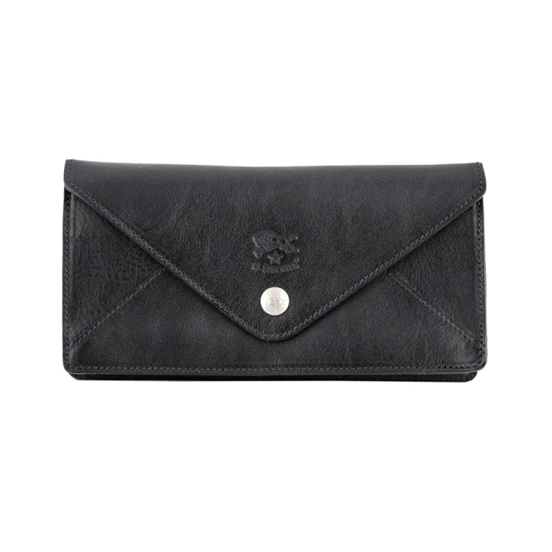[イルビゾンテ] IL BISONTE C0987 153 Black レター型 長財布 ロングウォレット [並行輸入品]