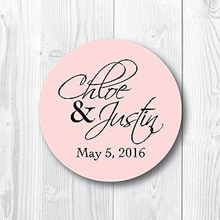 Modern Script Custom Wedding Favor Stickers