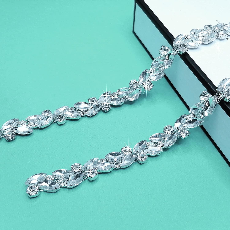 Yhsheen 1 Yard Bling Rhinestone Trim Chain Crystal Arlington Mall Limited time sale Sp