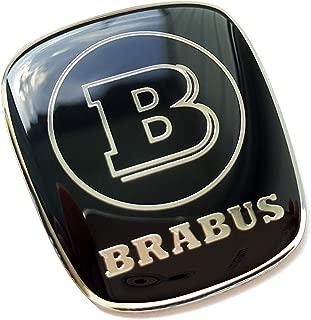 kit-car Mercedes Benz Brabus Style Emblem for Gear Shift knob - Logo Metal Badge - Black Color - 1 pc