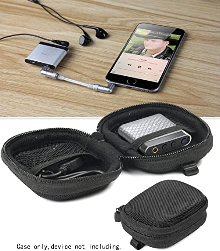wholesale WGear lowest Desined Featured Headphone Amplifier Case for FiiO A1, FiiO K1, Topping NX1A, high quality Fulla USB Dongle DAC/AMP, with mesh Pocket for Cable, Fastening Elastic Strap, Wrist Strap Ballistic Black online
