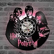 Harry Potter Hermione Granger Movie Vinyl Record Wall Clock, LED Luminous Night light 12 Inch Vinyl Record Clock Best Gift...