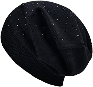 SOMALER Womens Lightweight Thin Slouchy Beanies Spring Knitting Wool Baggy Hat-Single Layer Hat