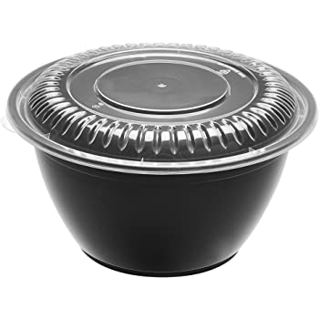 AmazonBasics - Boles para comida de 1 compartimento, sin BPA, aptos para microondas, lavavajillas y congelador, aprox. 1,2 L, paquete de 15 unidades