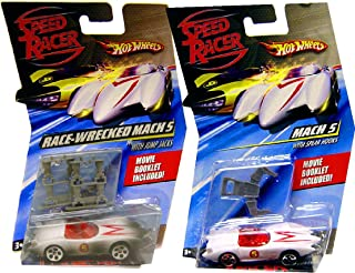 Hot Wheels Speed Racer Mach 5 Car and Race-Wrecked Set