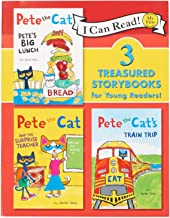 James Dean Pete The Cat 3 Treasured Storybooks : Pete's Big Lunch, Pete The Cat and The Surprise Teacher, Pete The Cat's Train Trip