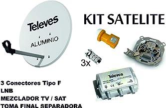 Kit Antena PARABOLICA 63cm Aluminio TELEVES + Mezclador DE